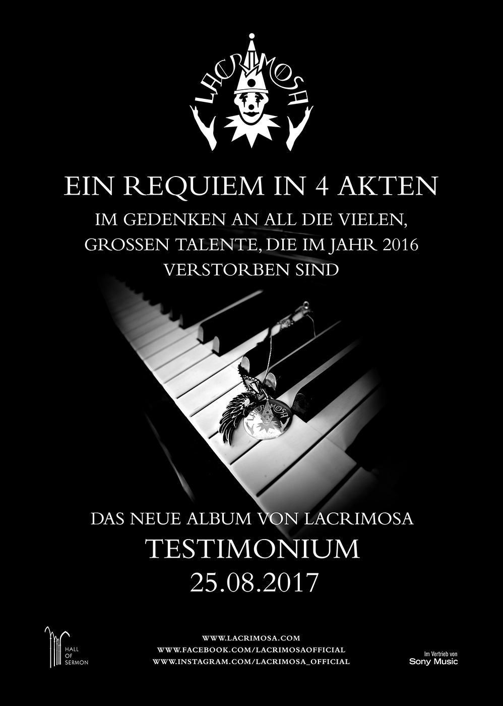 """Das neue Album """"TESTIMONIUM"""""""