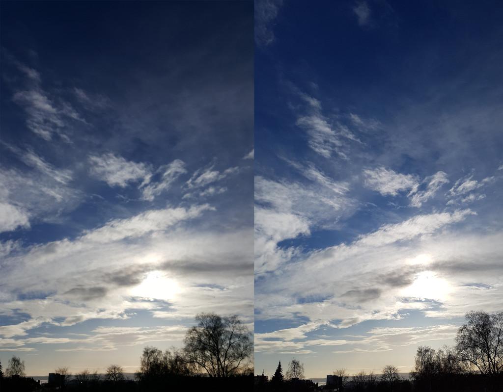Kameraet til Galaxy S7 (til høyre) sammenlignet med forgjengeren, Glaxy S6 Edge (til venstre)
