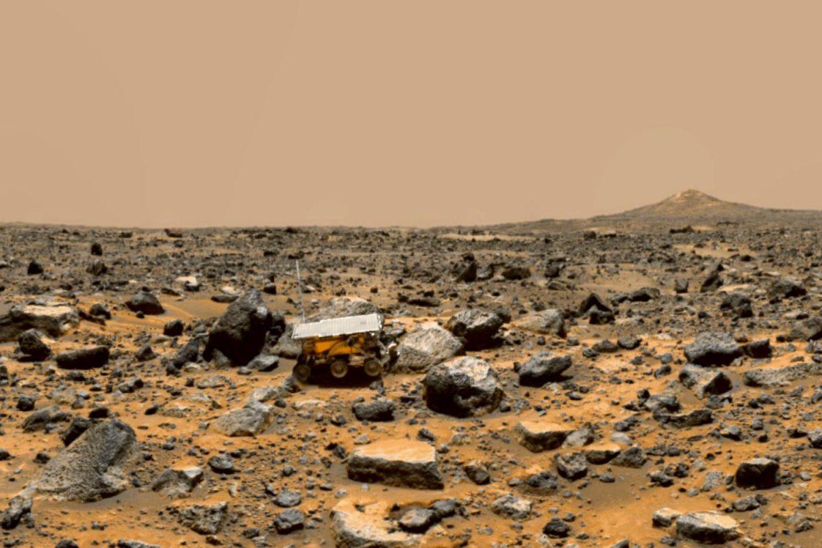 Pathfinder auf dem Mars. Foto: Nasa