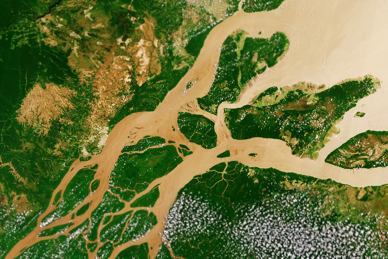 Eine Luftaufnahme der Amazon-Mündung. Foto: ESA/Flickr