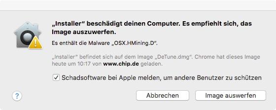 Installer enthaelt schadsoftware
