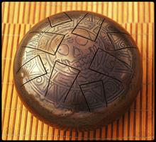 Глюкофон Стечкина dream drum steel tongue  Черная жемчужина  2015 бронза мини ханг, hang, тонга
