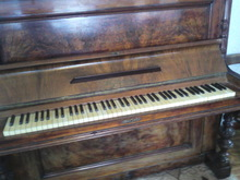 Waisbrod пианино 1897 красное дерево