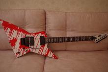 ESP LTD dj 600 2009 белая со стекающей кровью