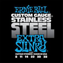 Ernie Ball P02249 STAINLESS STEEL EXTRA SLINKY 8-38
