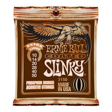 Ernie Ball P03150 COATED TITANIUM RPS SLINKY PHOSPHOR BRONZE ACOUSTIC EXTRA LIGHT 10-50