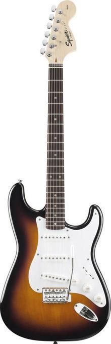 Squier By Fender - Affinity Stratocaster Brown Sunburst Электрогитара