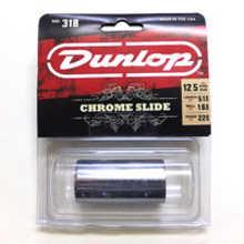 DUNLOP 318 Chromed Steel Medium LARGE SHORT (22 x 25.4 x 51mm, rs 12-13) слайд стальной хромированны