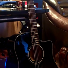 Fender CD-60CE black W/fishman acoustic