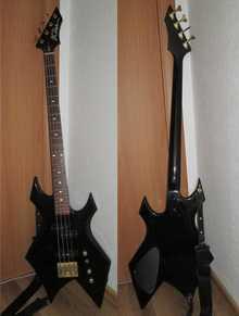 B.C. Rich Warlock Bass 1990 черный
