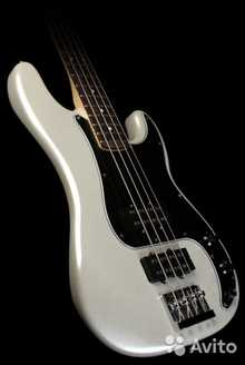 Fender Blacktop Precision Bass (RW)  2012 white chrome pearl