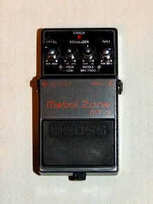 Педаль перегруза (дисторшн) Boss MT-2 Metal Zone