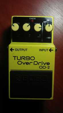 BOSS OD-2 1986 желтый