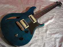 PRS SE Custom Semi-hollow 2008 green