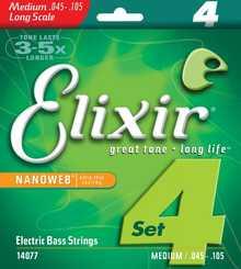 Струны для бас-гитары ELIXIR 14077