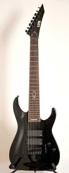 "LTD SC-608b 2013 black 8 strings/27""/EMG"