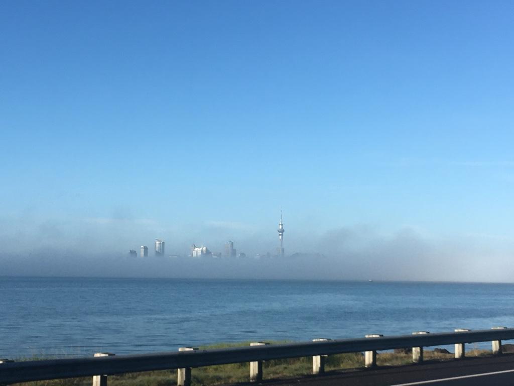 Auckland v mlze