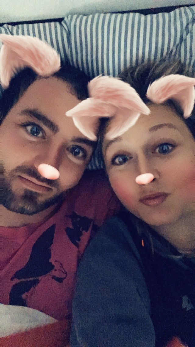 Dneska ráno jsme si hráli s filtrama na Snapchatu :D