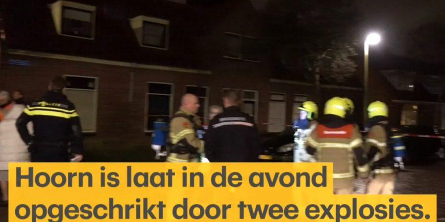 Woningen Hoorn ontruimd na explosies door brand in bestelbusje
