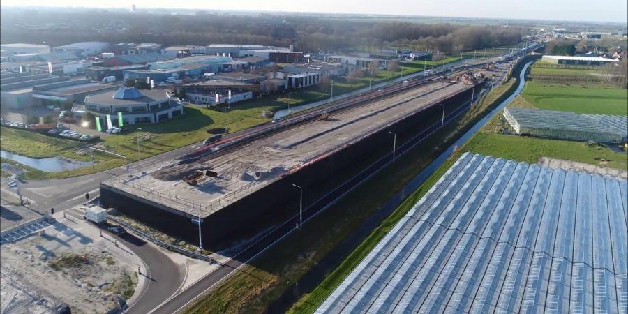 Werkzaamheden Westfrisiaweg bij Westwoud, Zevenhuis en Oostergouw [drone video]