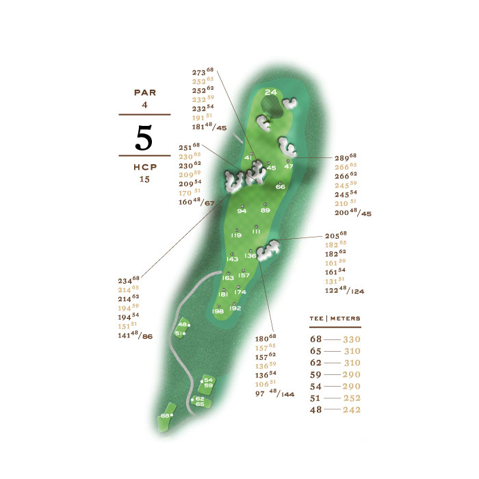 Lakes Course - hål 5