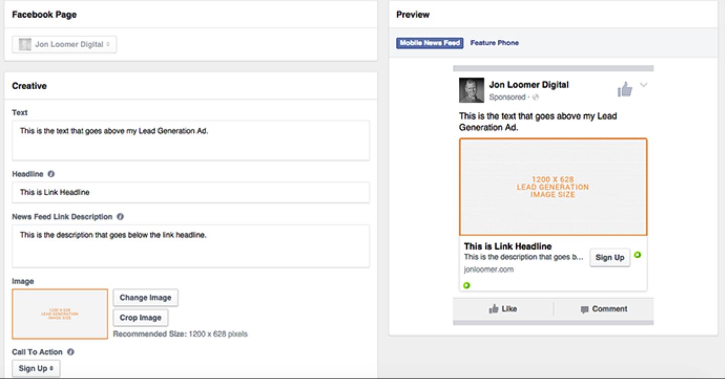 Запустить Рекламу Генератор Лидов в Facebook
