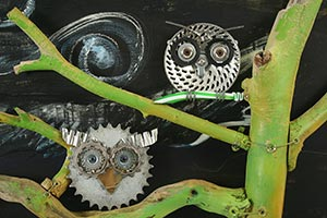 Wall Sculpture and Painting, Recycling Art
