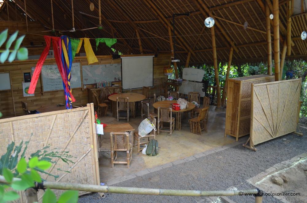 Klassenzimmer-Green-School-Bali
