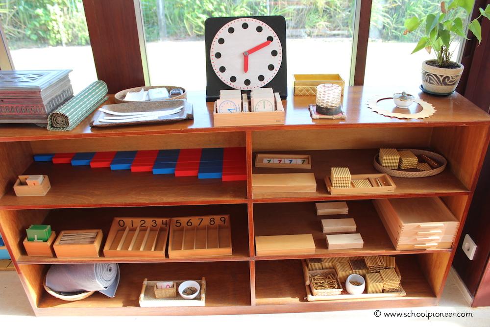 Materialbereich-Mathematik-Preschool-Montessori-School-Bali