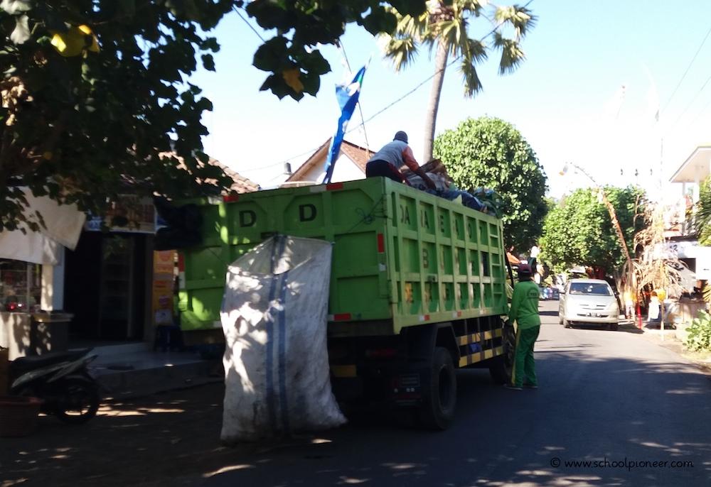 Müllabfuhr-Bali