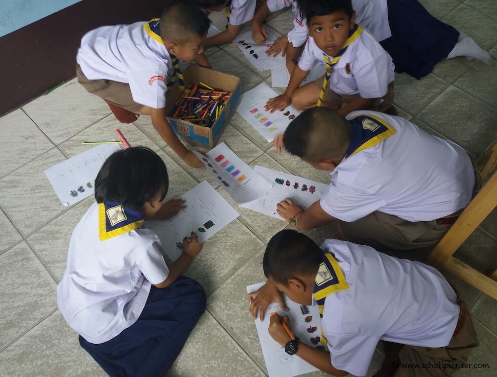 Stifte-teilen-Wat-Lamai-School