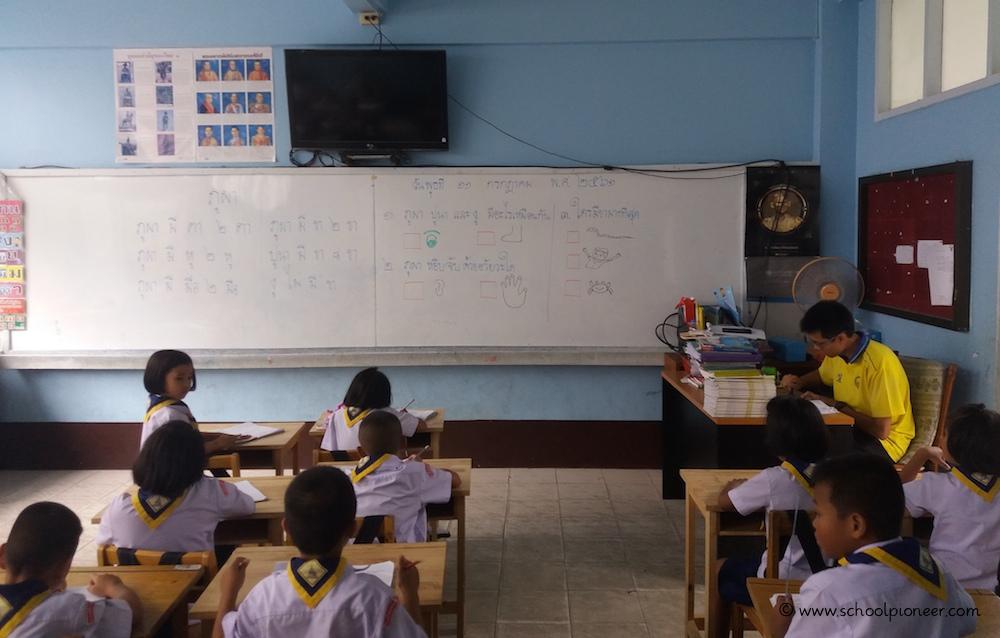 Unterrichtsstunde-Nachmittagsunterricht-Thai-Grundschule