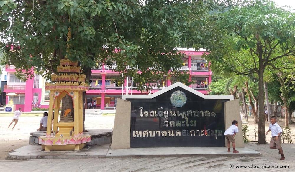 Buddha-Statue-Grundschule-Thailand-Koh-Samui