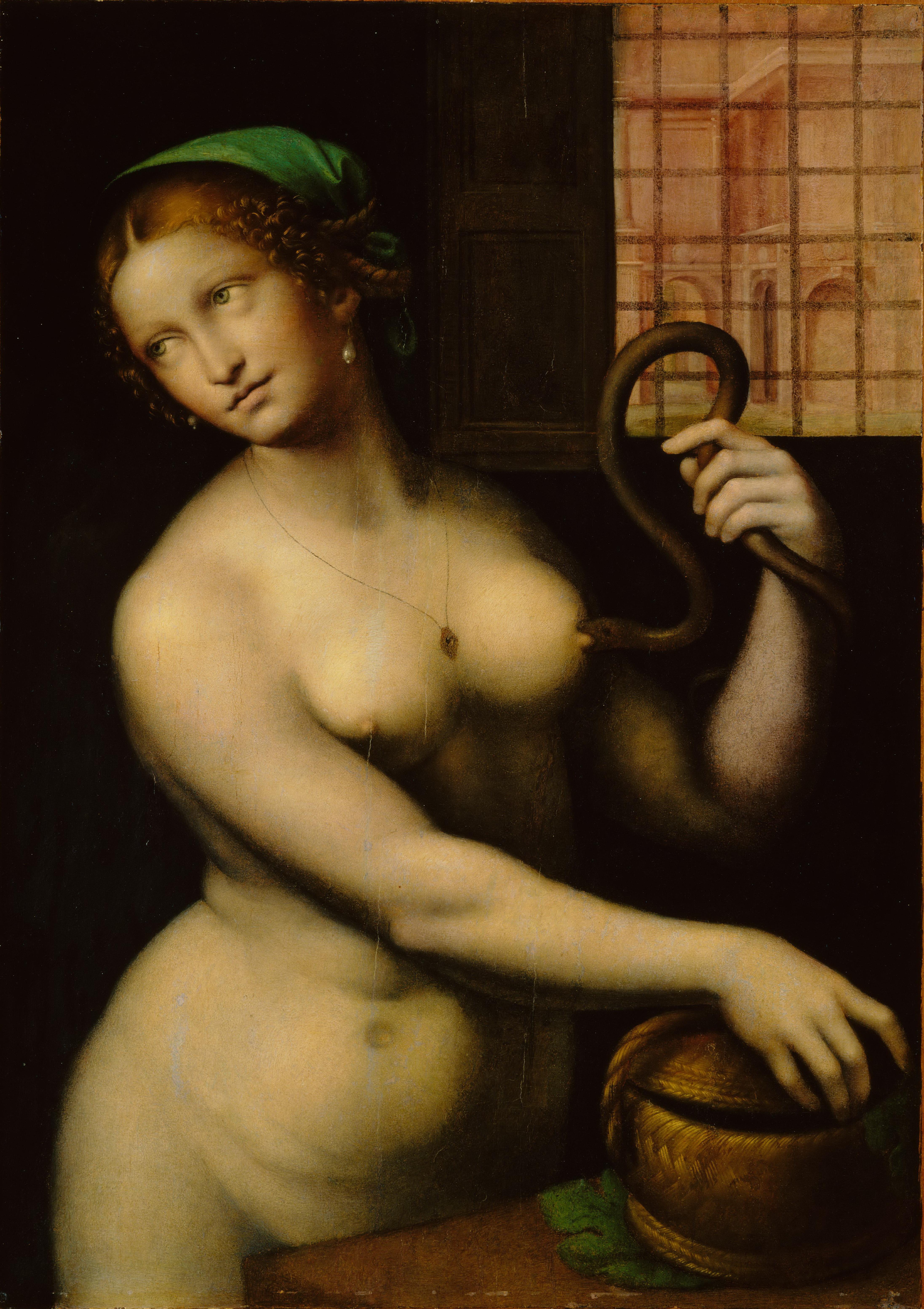 Giampetrino, 1495-1549. Клеопатра. 1520-1540. Оберлин, Музей искусства колледжа