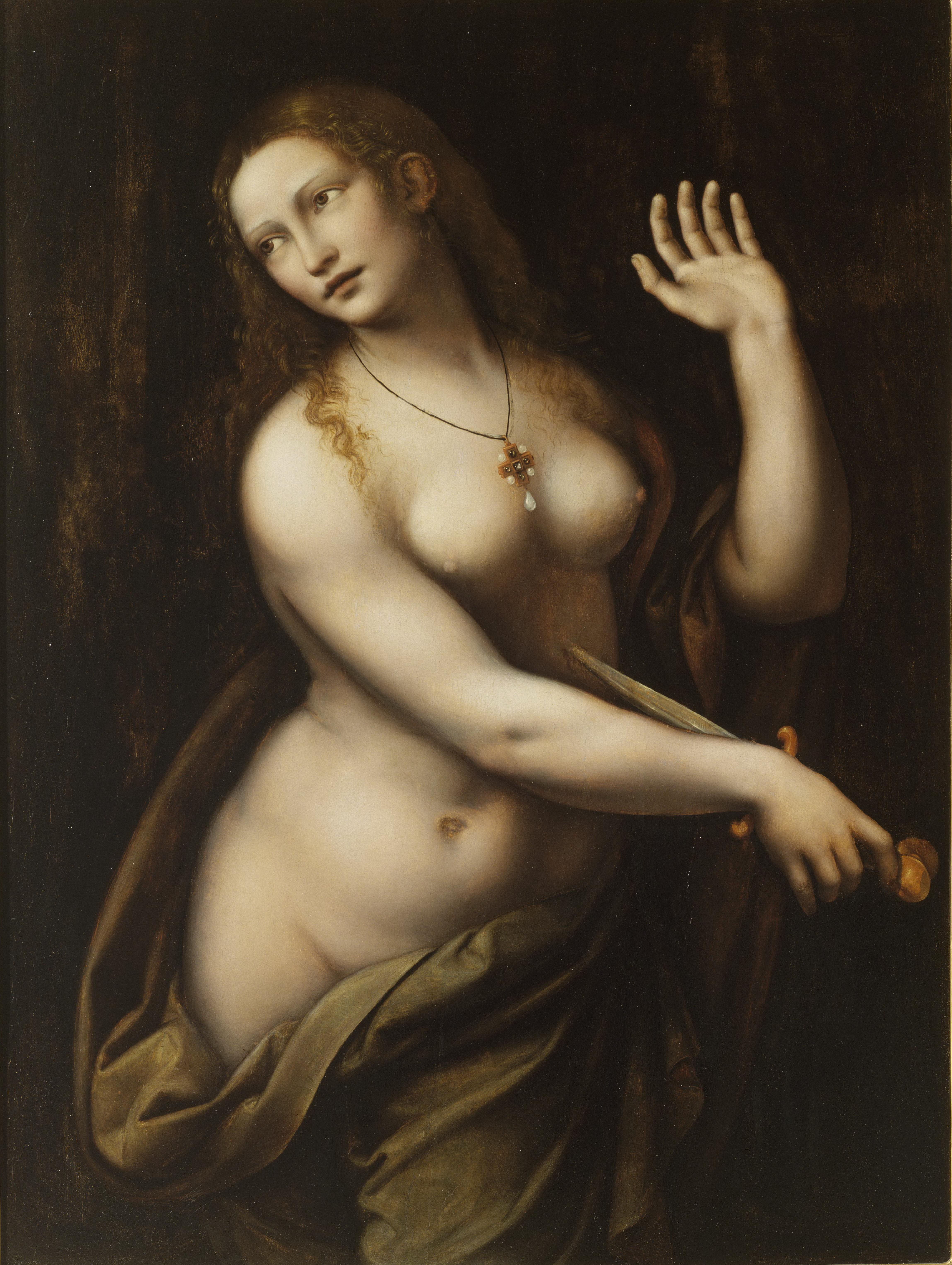 Giampetrino, 1495-1549. Лукреция. между 1500 и 1540. 95.9 х 72.4. США, Мадисон, Chazen Museum of Art