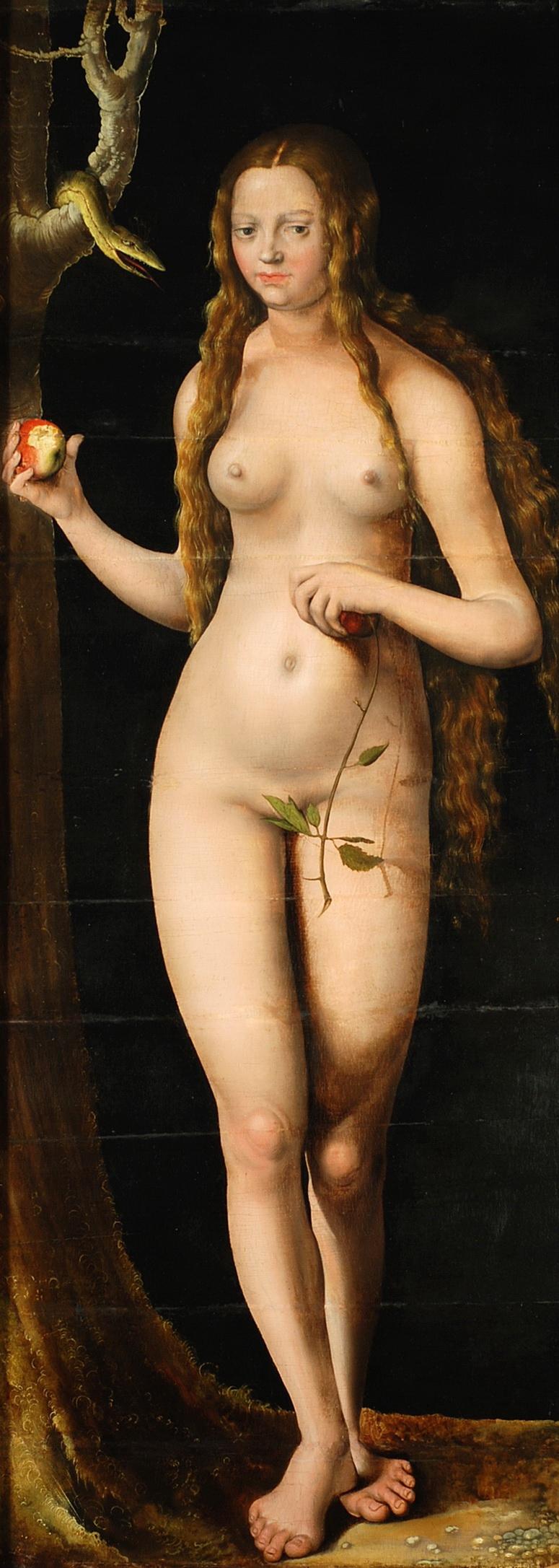 Lucas Cranach I, 1472-1553. Ева. 1508-1510. Безансон, Музей искусств и археологии