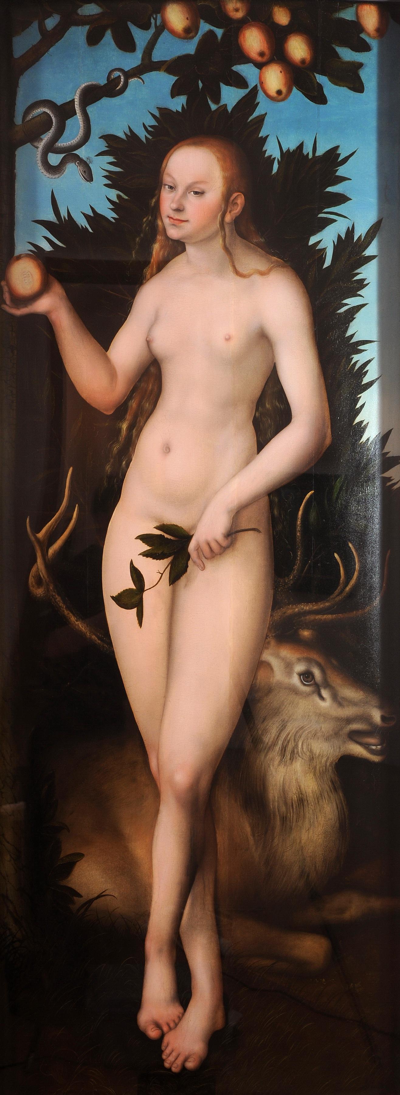 Lucas Cranach I, 1472-1553. Ева. 1533. Лейпциг, Музей изобразительных искусств