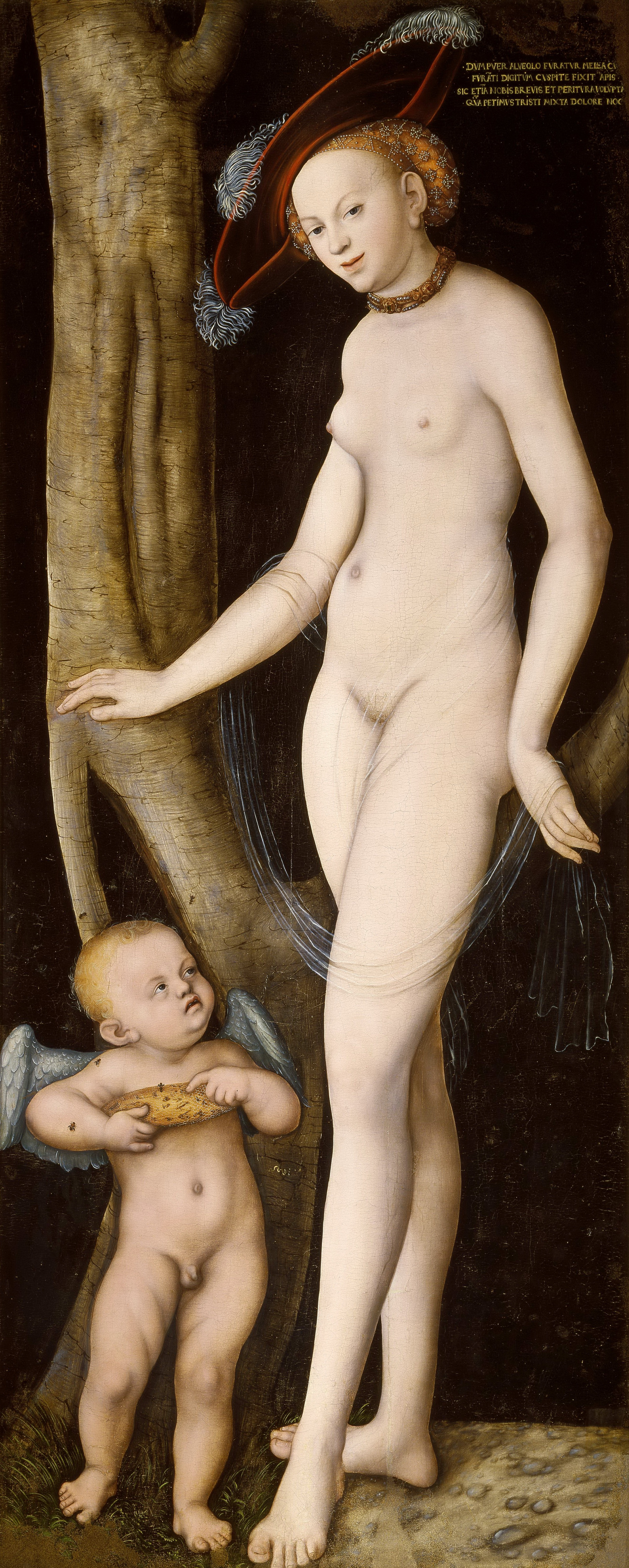 Lucas Cranach I, 1472-1553. Венера и Амур, укравший соты. ок.1530. Рим, галерея Боргезе