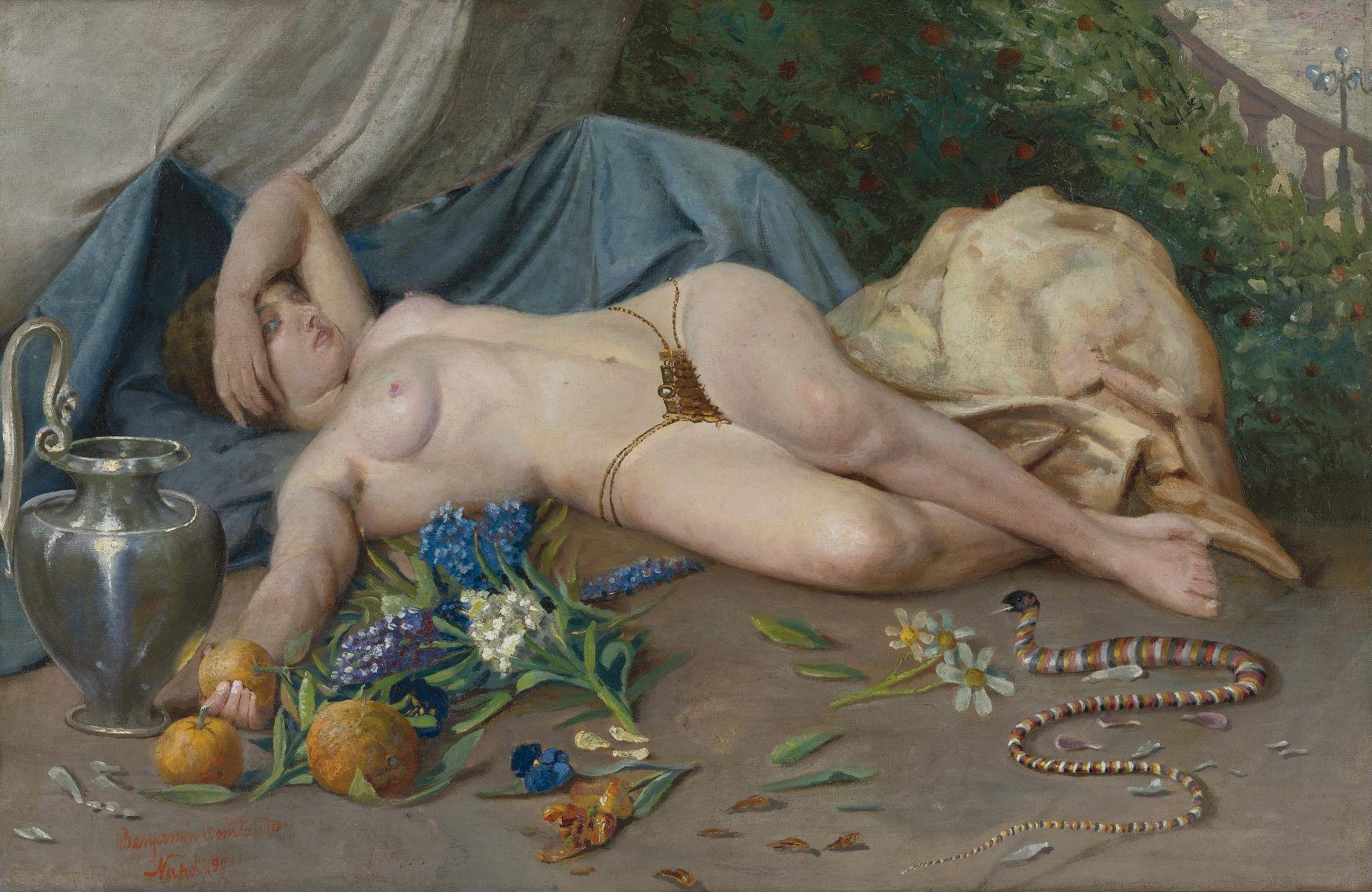 Неизвестный автор. Клеопатра. 64.5 х 100 см