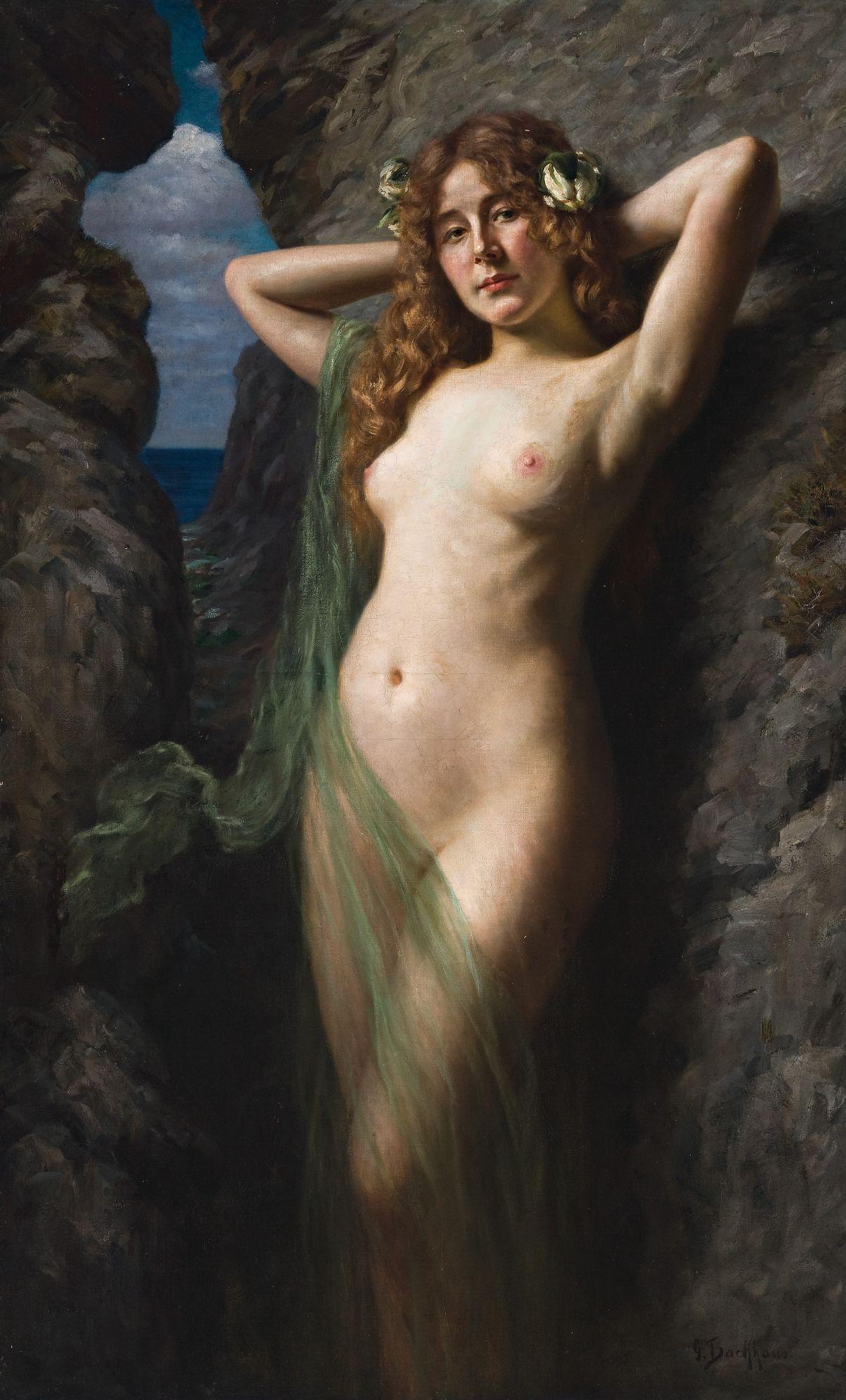 Неизвестный автор. Морская богиня. 150 х 92 см