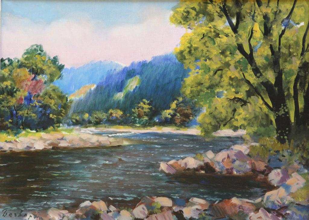 Невицький пейзаж над річкою 1965