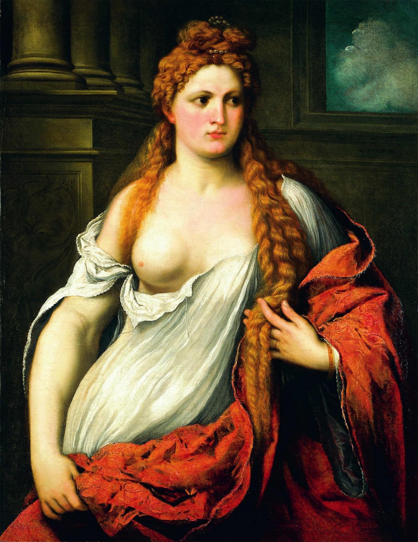 Paris Bordone, 1500-1571. Портрет молодой женщины
