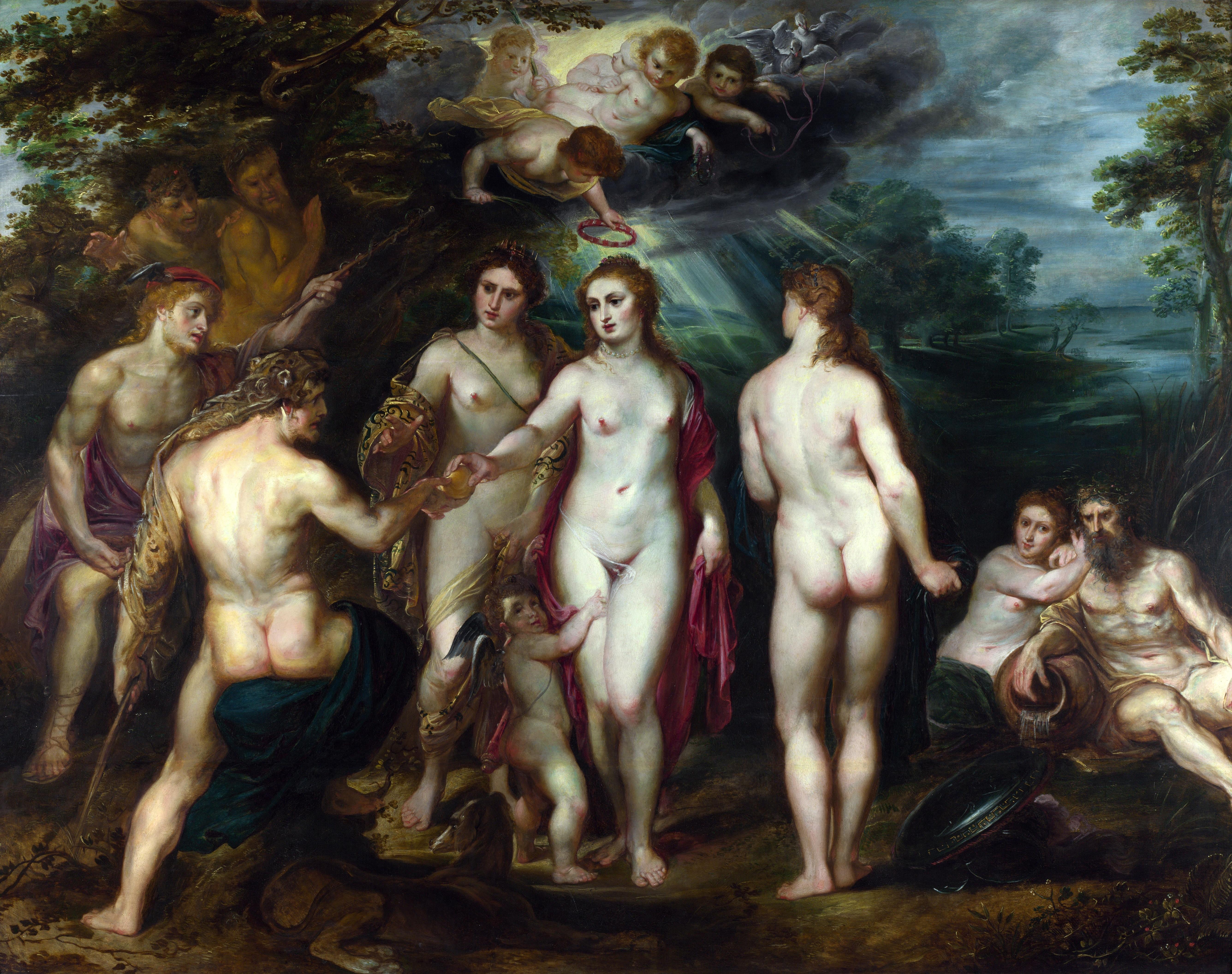 Peter Paul Rubens, 1577-1640. Суд Париса. ок.1625. 133.9 х 68.7 см. Лондон, Национальная галерея