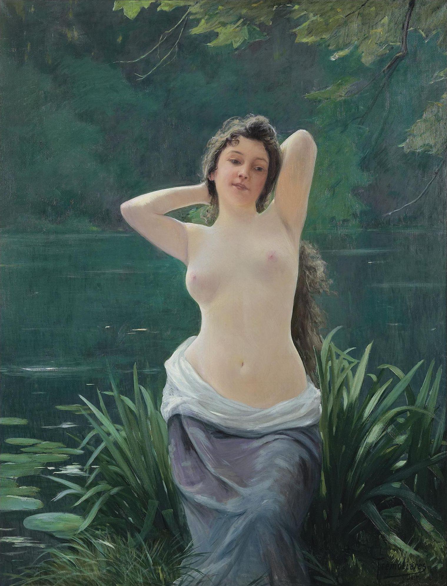 Raoul Tremolieres, 1860-1920. Купальщица. 1895. 146 х 113.5 см.