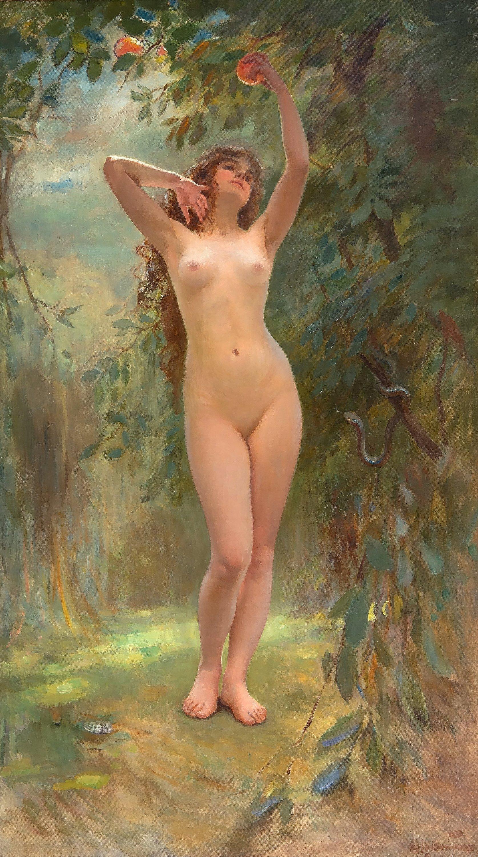 Штемберг, Виктор Карлович, 1863-1917. Ева. 187 x 107 см. Частная коллекция