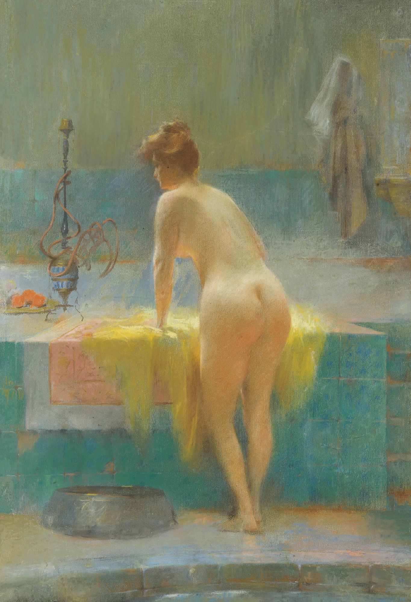 Sarkis Diranian, 1854-1918. Молодая купальщица. 53 х 36 см. Частная коллекция