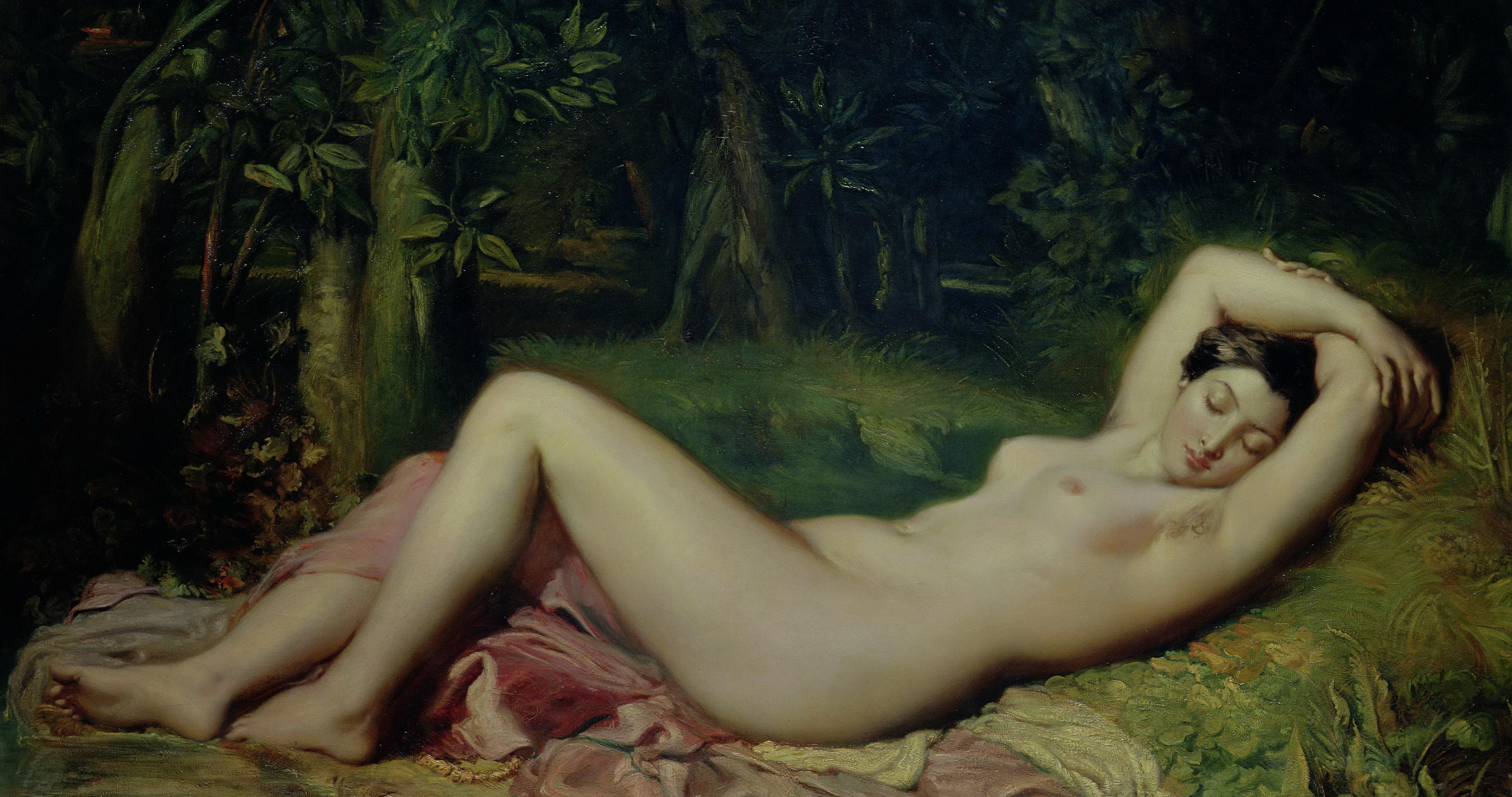 Theodore Chasseriau, 1819-1856 Спящая нимфа. 1850. 137 х 210 см. Авиньон, музей Кальве