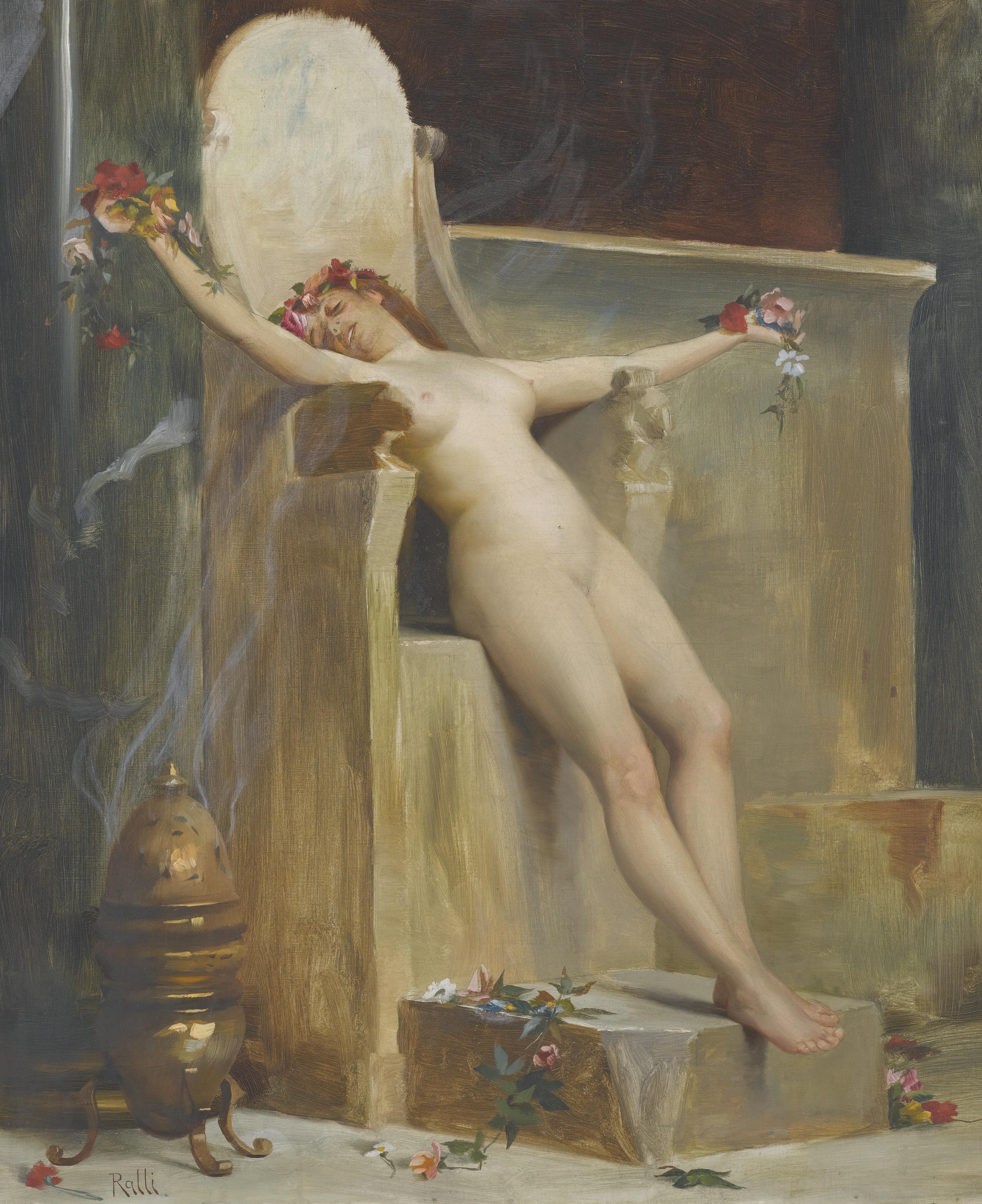 Theodoros Rallis, 1852-1909. Жертвоприношение. 55.5 х 46 см. частная коллекция