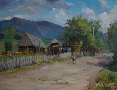 Улочка в деревне Лыбохоры
