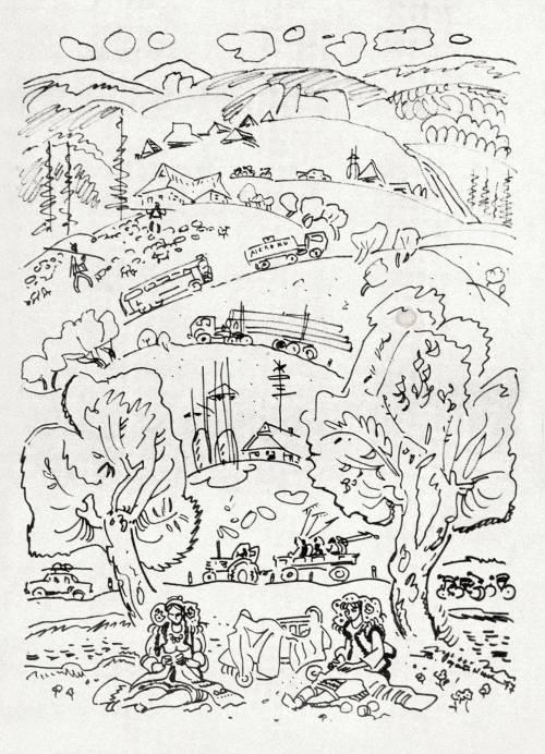 В Карпатах (зарисовки). 1977 г